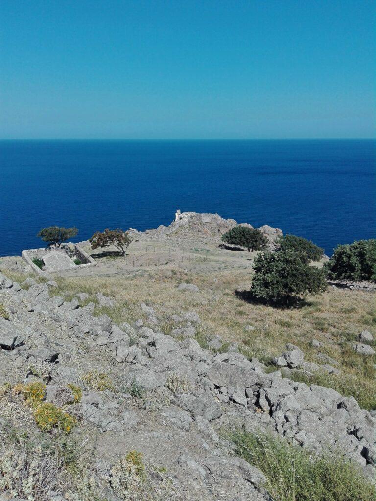 Θέα από το Κάστρο της Μύρινας Λήμνος